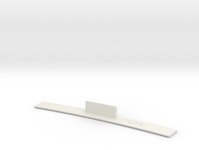 ME83-30R Curve Template HO Scale in White Natural Versatile Plastic