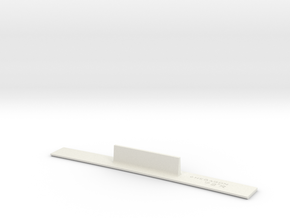 ME83-72R Curve Template HO Scale in White Natural Versatile Plastic