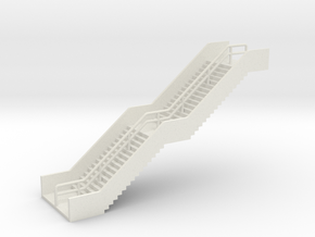 N Scale Station Stairs H40mm in White Strong & Flexible