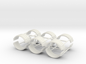 1/50th Dual Tire Fenders set of six in White Natural Versatile Plastic