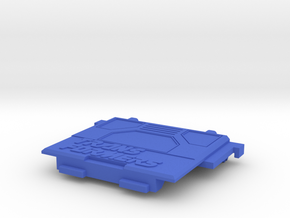 Transformers Thunderclash rear gate. in Blue Strong & Flexible Polished