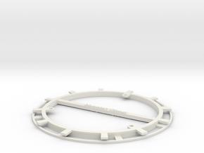 RFID Bobbin 130mm in White Natural Versatile Plastic