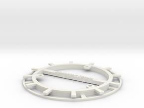 RFID Bobbin 90mm in White Natural Versatile Plastic