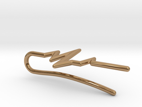 Heartbeat tie bar in Polished Brass