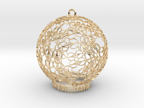 Peace for Paris Memento Ornament in 14K Yellow Gold