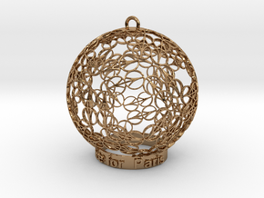Peace for Paris Memento Ornament in Polished Brass