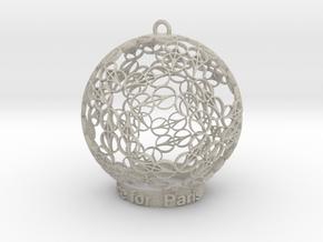 Peace for Paris Memento Ornament in Natural Sandstone