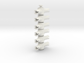 Pin Connector #3 in White Natural Versatile Plastic