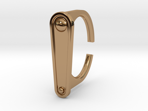 Ring 5-2 in Polished Brass