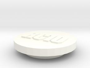 Rc10 6 Gear Bearing Plug in White Processed Versatile Plastic