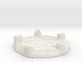 28mm/32mm Demon Summoning Circle Medium in White Natural Versatile Plastic