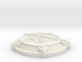 28mm/32mm Demon Summoning Circles Small  in White Natural Versatile Plastic