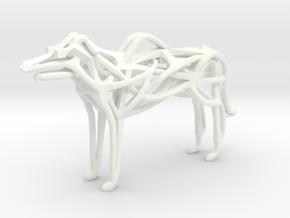 GeoHound Dog Pendant Keychain in White Processed Versatile Plastic