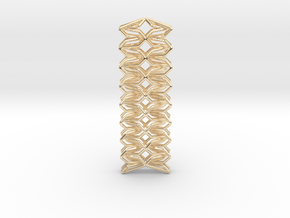 YOUNIC Fabric, Straight Pendant in 14K Yellow Gold