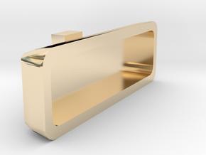 1/10 Scale rear view mirror Billet Alum. type in 14k Gold Plated Brass