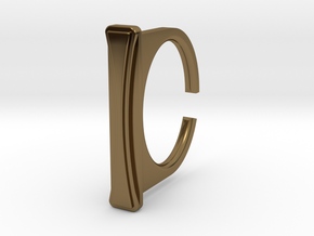 Ring 1-8 in Polished Bronze