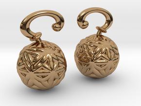 Vargheim Earrings Alfa in Polished Brass
