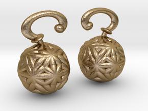 Vargheim Earrings Alfa in Polished Gold Steel