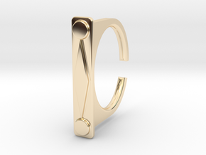 Ring 1-9 in 14k Gold Plated Brass