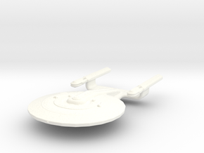 Uss Atlantis  in White Processed Versatile Plastic