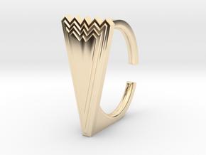 Ring 5.-9STL in 14k Gold Plated Brass