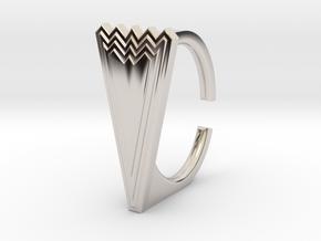 Ring 5.-9STL in Rhodium Plated Brass