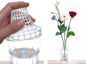Clip on vase in White Strong & Flexible