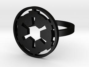 3d Star Wars Empire, Size 9 in Matte Black Steel