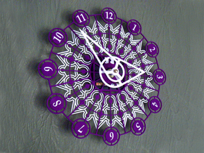 Kaleidoscope Clock - Part A in White Strong & Flexible