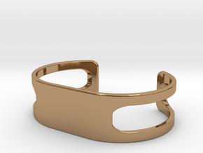 Bracelet, size 5, embossed - 70x38 in Polished Brass