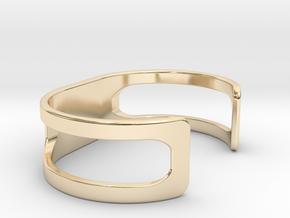 Bracelet, size 4, embossed - 65x35 in 14K Yellow Gold