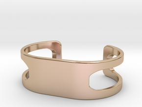 Bracelet, size 3, embossed - 60x31 in 14k Rose Gold