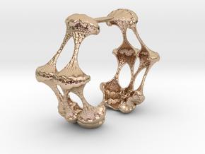 Bracelet#1.1 - Customizable - byFractalMathematics in 14k Rose Gold Plated Brass