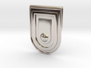 030103-5 in Rhodium Plated Brass