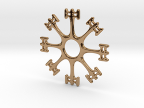 Draumstafur 2cm diameter in Polished Brass