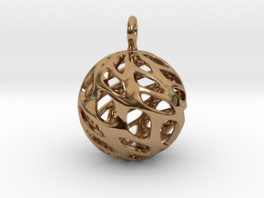 Sphere Pendant in Polished Brass