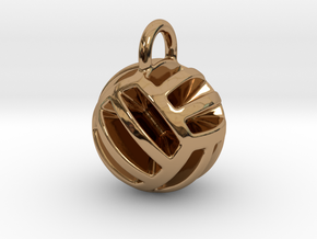 DRAW pendant - volleyball style 2 in Polished Brass
