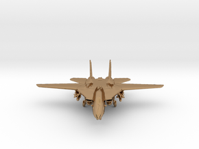 F14 grumman Jet in Polished Brass