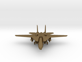 F14 grumman Jet in Polished Bronze
