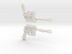 Doubleblaster in White Natural Versatile Plastic