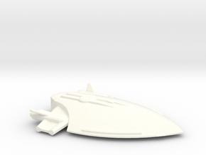 Federation attack ship in White Processed Versatile Plastic