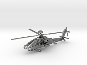 Helicopter Apache Ah-64 Gold & precious materials in Polished Silver