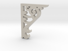 Victorian Corner Bracket - 002 1:12 Scale in Natural Sandstone