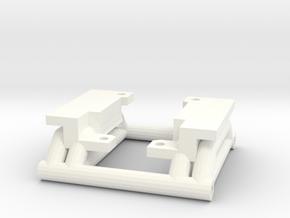 TLT-1 Alt Gearbox mount in White Processed Versatile Plastic