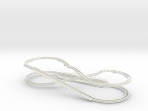 Wacky Worm Track in White Natural Versatile Plastic