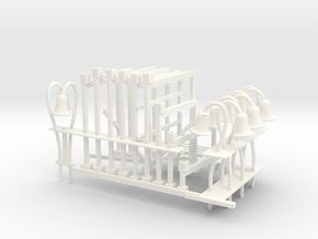 Wacky Worm incline plus right side and two track s in White Processed Versatile Plastic