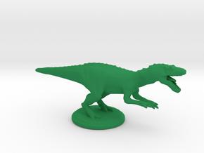 Dinosaurs World Allosaurus Full Color in Green Processed Versatile Plastic