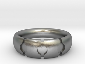 Enigmatic ring_Size 5 in Raw Silver