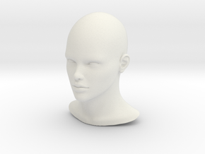 1/6 SCALE FEMALE HEAD FIGURE  in White Natural Versatile Plastic