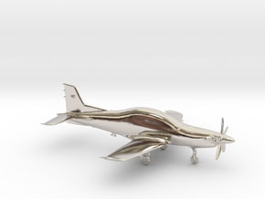 Pilatus PC-21 Turboprop gold & precious materials in Rhodium Plated Brass